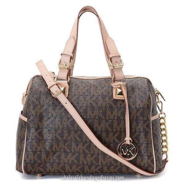 36e74c592143 Beautiful Michael Kors Handbags MK 11 Series Satchels Hole Brown  WBMKHB150227
