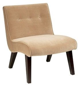 Office Star Curves Valencia Accent Chair Coffee Velvet VAL51N-C27