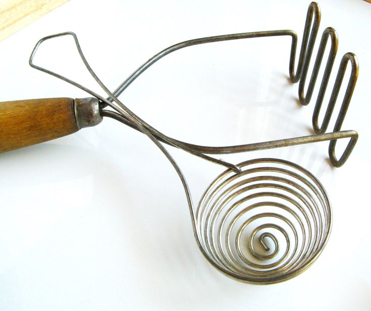 Vintage Egg Separator and Potato Masher - Lightly Rusted and Rustic by DirtRode on Etsy https://www.etsy.com/listing/277318670/vintage-egg-separator-and-potato-masher