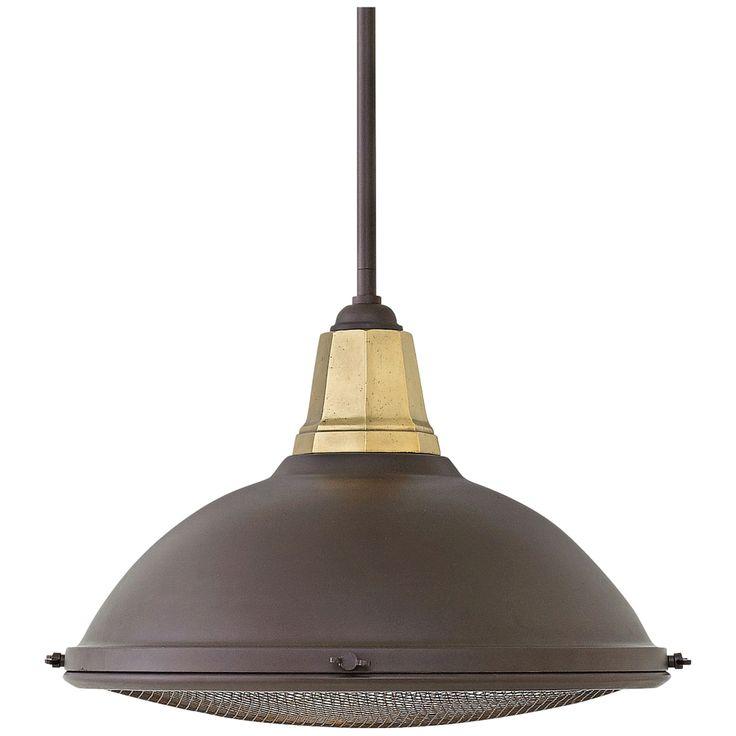 """Hinkley Barstow 16 1/4"""" Wide Buckeye Bronze Pendant Light - Style # 24X15"""