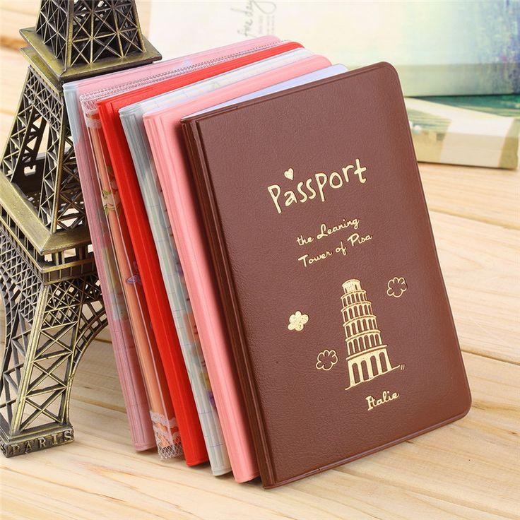 6 Colores bolsa de Viaje Sostenedor Del Pasaporte Documento de Tarjeta, caja del pasaporte, cubierta de pasaporte, pasaporte Protege la Cubierta Envío Gratis