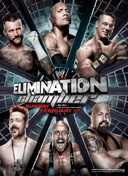 #wrestling #WWE Elimination Chamber Poster Features The Rock (Photo), Sale On Rock Merchandise
