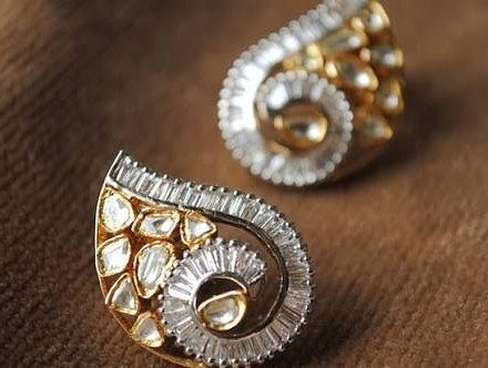 "3 Likes, 1 Comments - Madhu Gems and Jewellers (@madhugemsandjewellers) on Instagram: ""Diamond polki fusion earrings For order call/WhatsApp us on : +918385885829 #jewelry #jewellery…"""