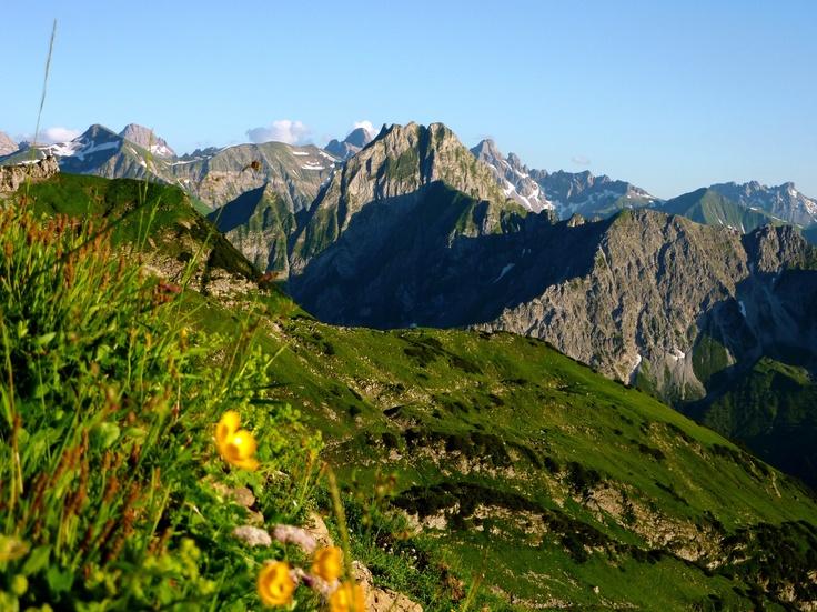 Blick auf die Höfats vom Nebelhorn in Oberstdord.