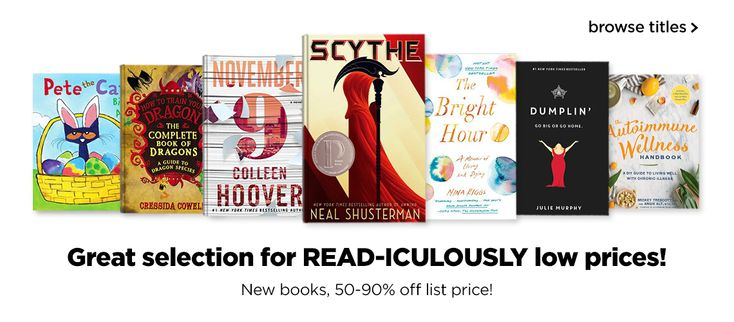 ★★★ 🅽🅴🆆 ★★★ 50-90% off all Titles at Book Outlet!:  Did you know Book Outlet's prices reflect a 50-90% off retail prices of some of your…