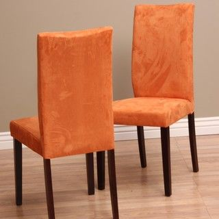 @Overstock - Update your traditional table with this set of four dramatic orange-colored upholstered dining chairs. The chairs' oak wood legs have a medium finish that coordinates well with many dining table styles, while the colored fabric introduces a modern look.http://www.overstock.com/Home-Garden/Warehouse-of-Tiffany-Shino-Orange-Dining-Chairs-Set-of-4/6332337/product.html?CID=214117 $246.67