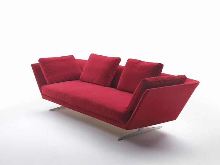 a sofaobject of great character with a rigid upholstered chassis whose ends spread