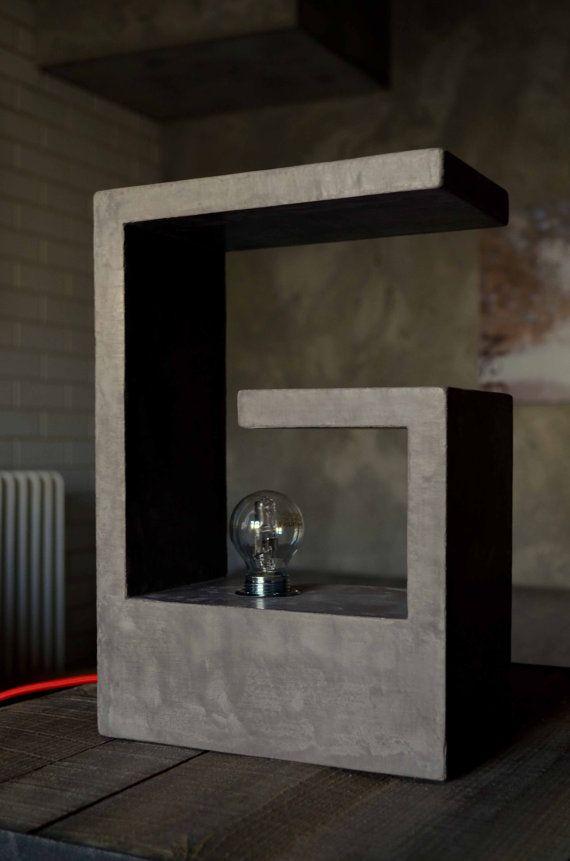Concrete lamp by welovediys on Etsy, $265.00