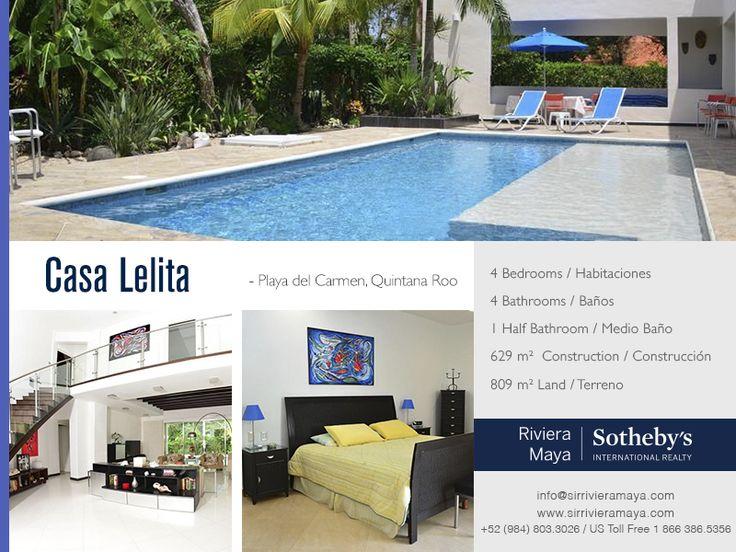Casa Lelita   Playa Del Carmen, Quintana Roo   Sotheby's International Realty Mexico #realestate #mexico
