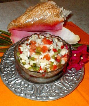 Bahamian Conch Salad i had in the Bahamas. I just made this at home but i substituted the Conch for Clam. So good and healthy.