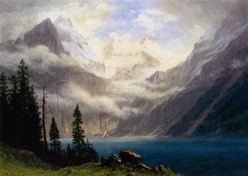 Mountain Scene - Albert Bierstadt