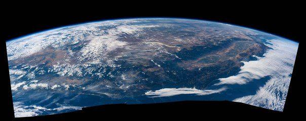 Западное побережье США с борта Международной космической станции / Интересный космос