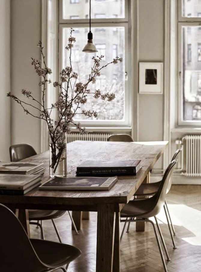 rustic and feminine dining room