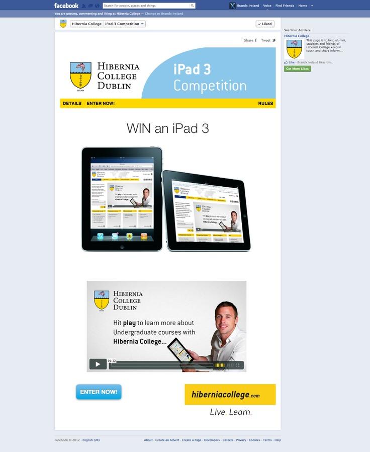Hibernia iPad 3 Facebook Competition