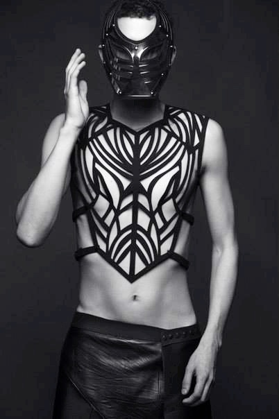 Avant Garde menswear chest plate