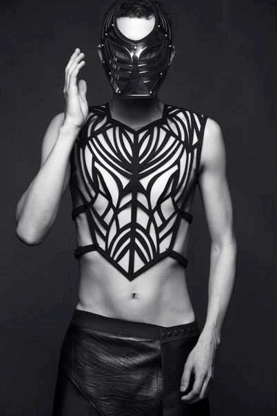Avant Garde menswear chest plate
