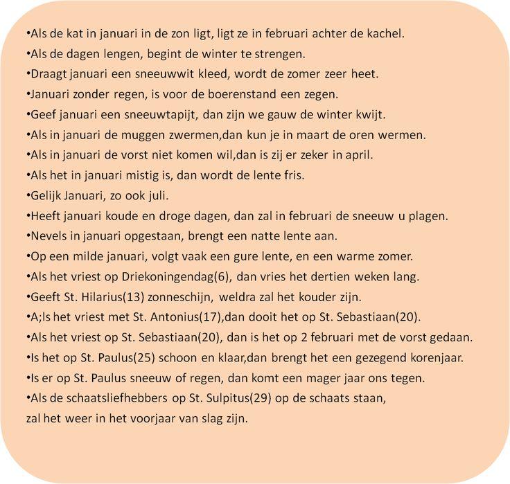 weerspreuken januari moestuin De Boon in de Tuin | http://deboon.blogspot.nl