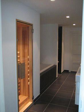 Inbouw infraroodcabine in badkamer foto Infrasol