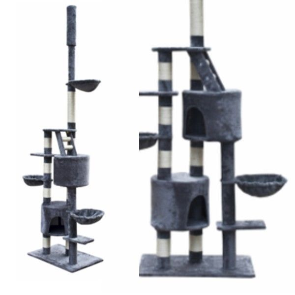Buy Brand New #Cat #Scratching #Post Tower 8.5 Ft Tree #Kitty #Condo #Pet Furniture Ladder Hammock