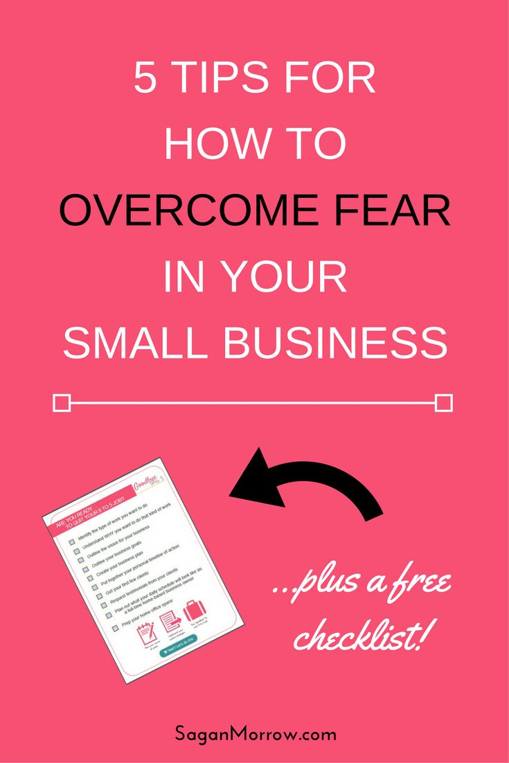 Tired of letting fear hold you back from making your dreams a reality? Learn exactly how to overcome fear in your small business with this 5-step process! Click on over to get the goods now...