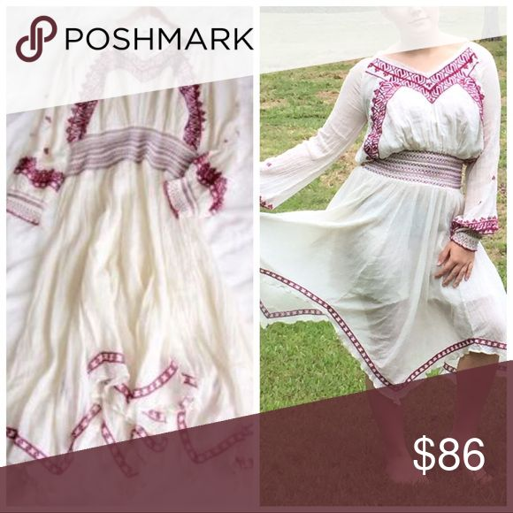 Free People French Courtship Slip Dress. Let this Clothed With Love Dress Show off your free spirit ❤️❤️Embroidery slip dress.  Handkerchief skirt. Trimmed with lots of detail to show your style . Sold out everywhere . No trades,offers welcome.0612 Free People Dresses Maxi