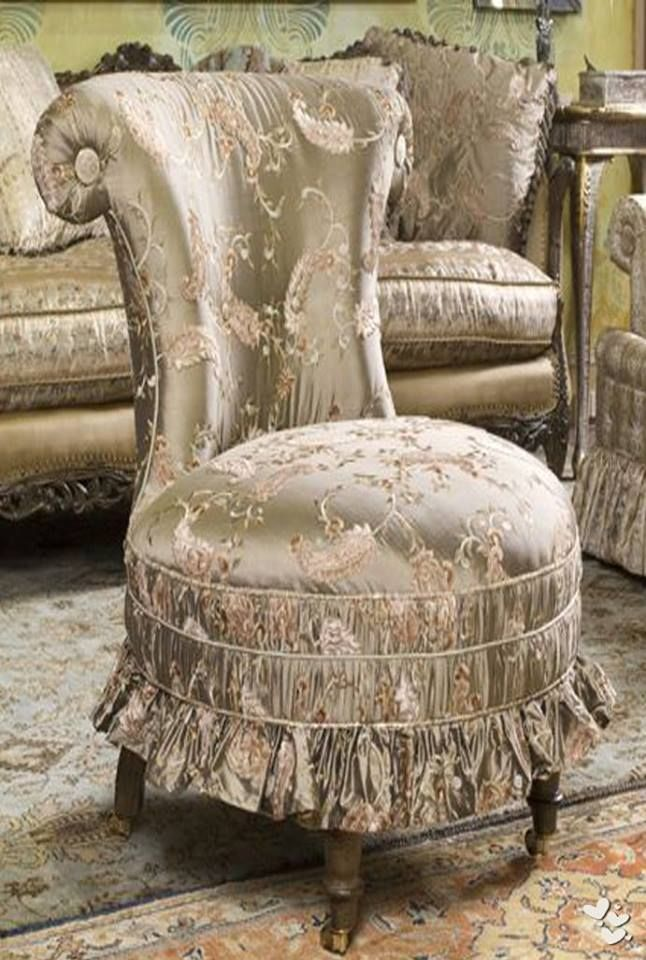 Victorian:  #Victorian slipper chair.