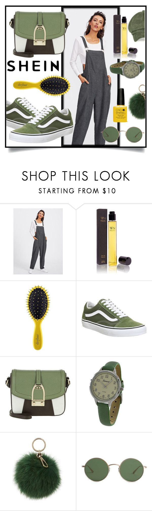 """SheIn Bib Pocket Front Harem Overalls"" by branqa on Polyvore featuring Wendy Nichol, Drybar, Vans, LA MARTINA, Geneva, Coccinelle, The Row, contest, Sheinside and casualoutfit"