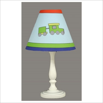 Childrens Bedside Lamp with Train Shade Transco