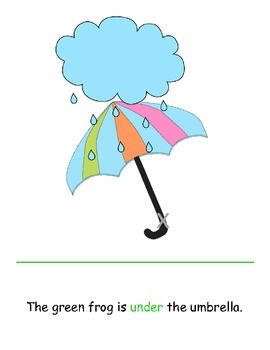Free! Who Is Under The Umbrella?  A preposition interactive book