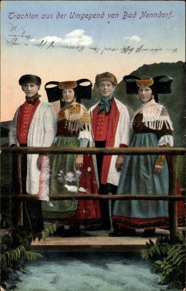 Ansichtskarte / Postkarte Trachten aus der Umgegend von Bad Nenndorf, Schaumburg Lippe #westerten