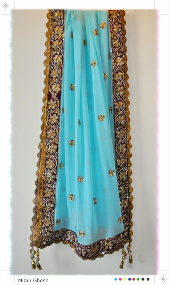 Georgette Hand embroidered sarees