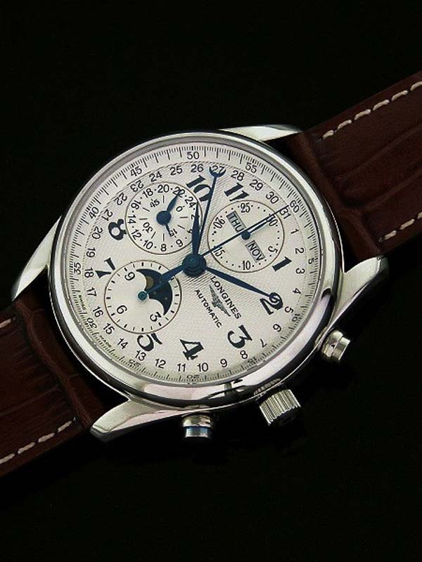Swiss Longines Master Collection Moonphase Stainless Steel Men Replica Watch