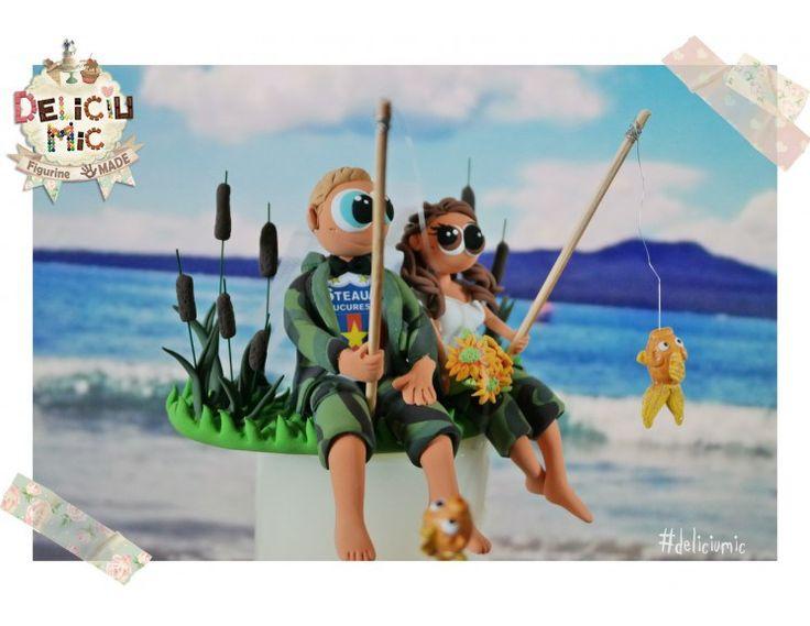 Figurine de tort  dragostea apare și la pescuit!