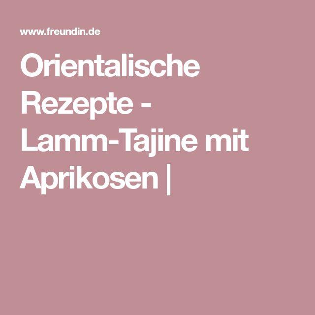 Orientalische Rezepte - Lamm-Tajine mit Aprikosen |