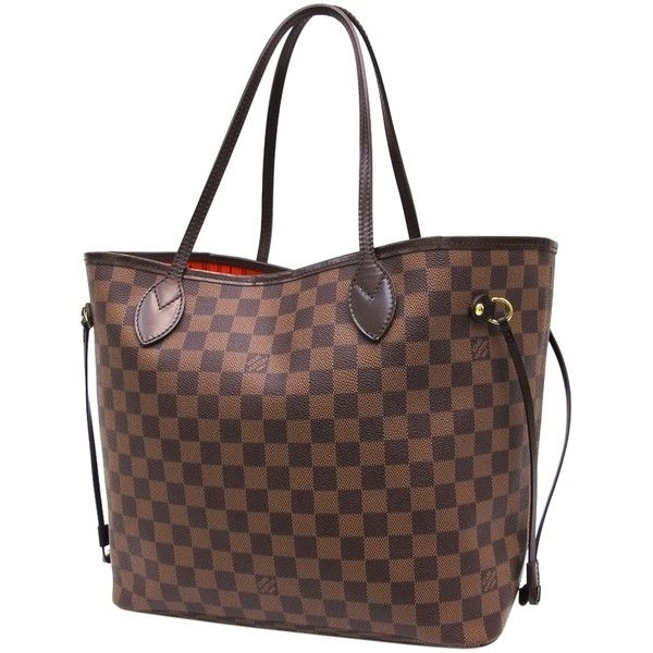 Pre-owned Louis Vuitton Neverfull Damier Mm Without Pouch Brown Tote... ($1,110) ❤ liked on Polyvore featuring bags, handbags, tote bags, brown, brown tote bag, brown tote, structured tote, louis vuitton tote bag and metallic handbags