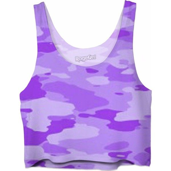 Purple Camo Crop Top ($35) ❤ liked on Polyvore featuring tops, crop tops, shirts, camoflage shirt, camo top, camo crop tops, camo print top and camouflage crop tops