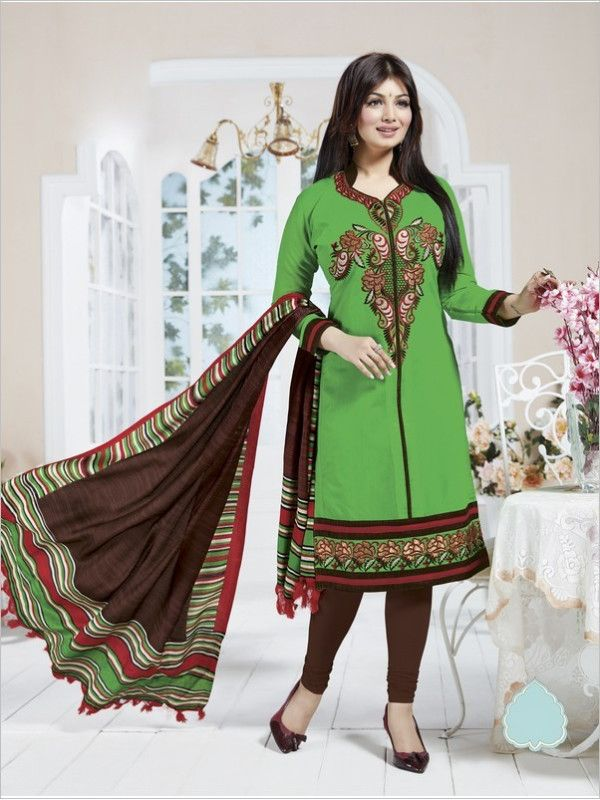 Green Formal Chanderi Suit