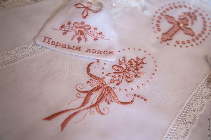 Купить Крестильный комплект. - белый, крестильный комплект, крестильное платье, крестильный набор, крестильная рубашка