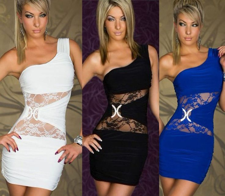 New Women Sexy Summer dress tops Lace Sleeveless Bodycon Clubwear Free Shipping $8.22 (free shipping)