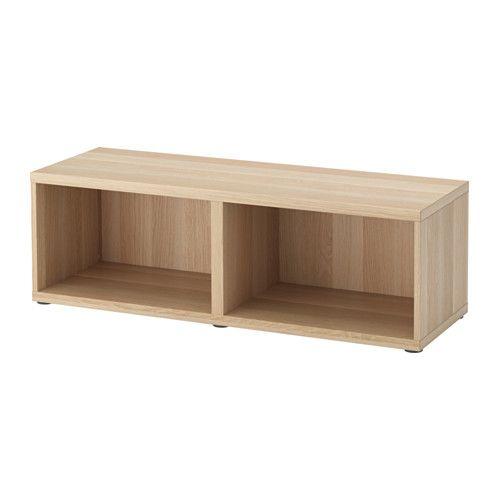 IKEA - BESTÅ, Stomme, vitlaserad ekeffekt, , Du kan välja att ställa stommen på golvet eller montera den på väggen för att frigöra golvyta.Vill du organisera insidan kan du komplettera med inredning från serien BESTÅ.Står stadigt även på ojämna golv, eftersom fötterna går att justera.