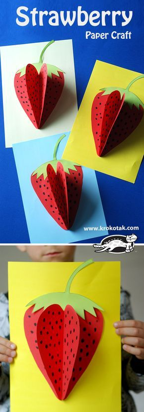 Strawberry Paper Craft