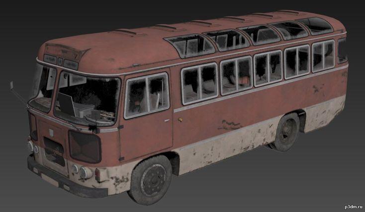 Paz-672 » Pack 3D models {Low Poly} ПАЗ-672 — Советский автобус малого класса, производившийся Павловским автобусным заводом в 1967—1989 годах. Предшественник — ПАЗ-652, преемник — ПАЗ-3205. Автобусы ПАЗ-672 были предназначены для районных и пригородных маршрутов с малым пассажиропотоком, хотя они использовались и используются в городах, зачастую в роли маршрутных такси, служебных автобусов или автокатафалков.