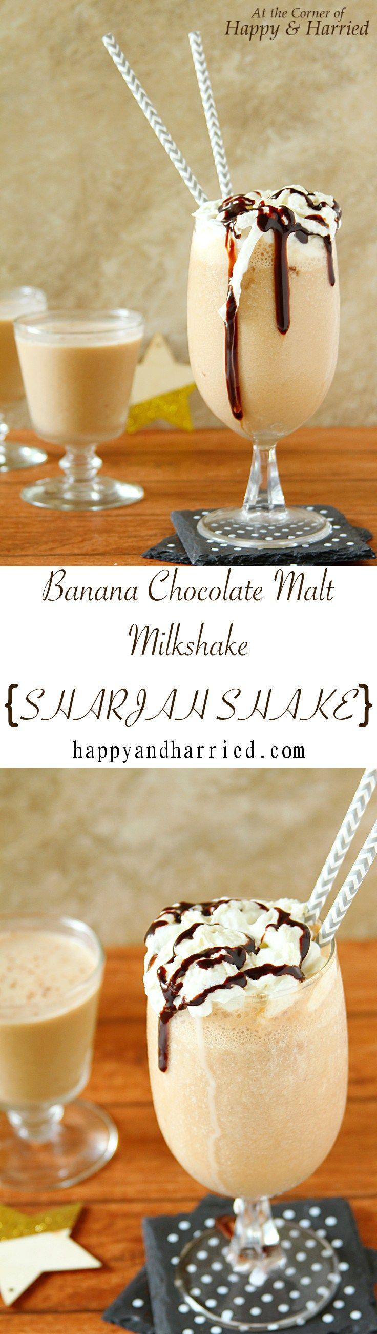 BANANA CHOCOLATE MALT SHAKE. A delicious way to shake away those mid ...