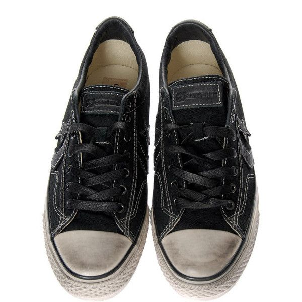 Converse Sneakers Star Player Black ($130) ❤ liked on Polyvore featuring shoes, sneakers, hunter, supernatural, men, converse shoes, converse footwear, converse sneakers, star shoes and star sneakers