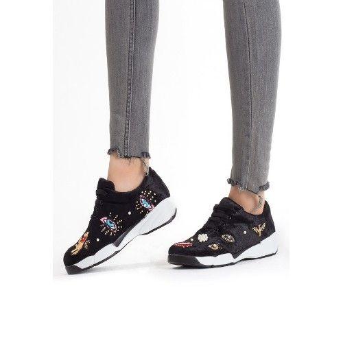 Sed Siyah Süet Boncuk İşlemeli Bayan Spor Ayakkabı 85,12 TL ve ücretsiz kargo ile n11.com'da! Di̇ğer Günlük Spor Ayakkabı fiyatı Spor Giyim