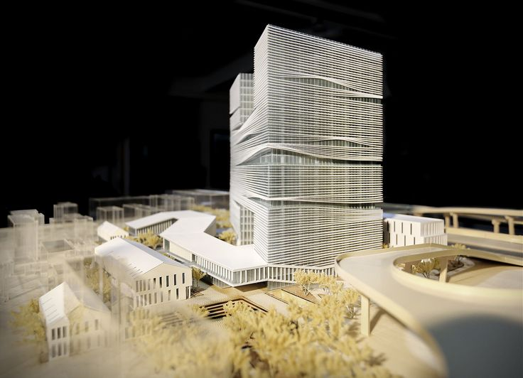 LYCS to Break Ground on Zhejiang Printing Group Headquarters in China,Southeast view. Image Courtesy of LYCS Architecture
