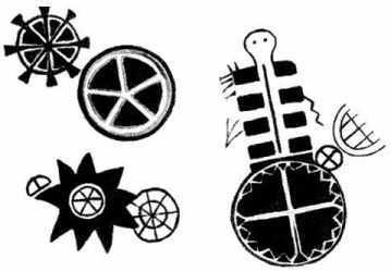 Ancient Religion Symbols | Native American Circle Symbols are depicted on ancient Rock Paintings