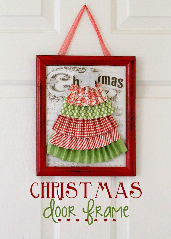 Christmas Door Frame - so cute and easy! { lilluna.com }