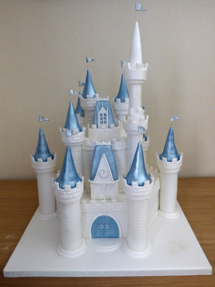 disney castle themed birthday cake                              …