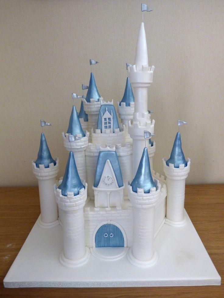 disney castle themed birthday cake                              …